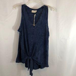 Universal Threads Indigo Blue V-neck Top Size S